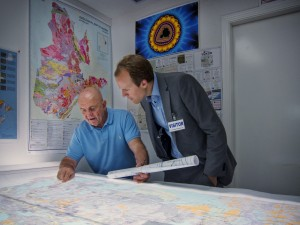 Charles Fipke, left, with Fipke Professor in Alzheimer's Research Haakon Nygaard. Photo: Brian Kladko.